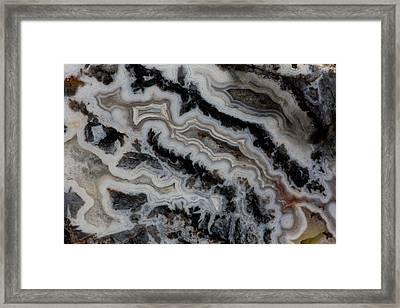 Jasper Agate Mixed Slab Framed Print by Darrell Gulin