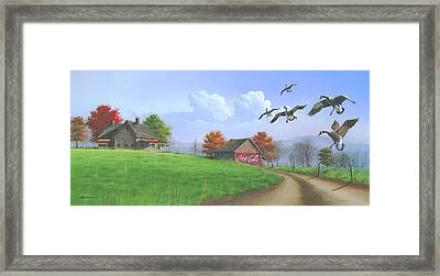 Framed Print featuring the painting Jasper Autumn by Mike Brown