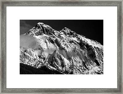 Jasper - Snow Packed Mountain In Spring Framed Print