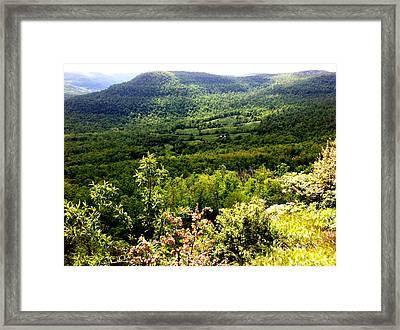 Jasper Valley Framed Print by Gary Perron