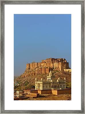 Jaswant Thada Mausoleum And Mehrangarh Framed Print