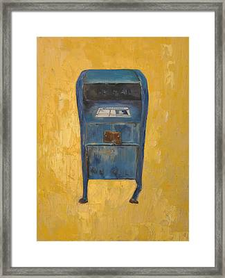 Framed Print featuring the painting Jaunty Mailbox by Lindsay Frost