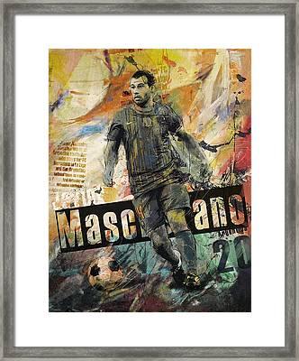 Javier Mascherano - B Framed Print by Corporate Art Task Force