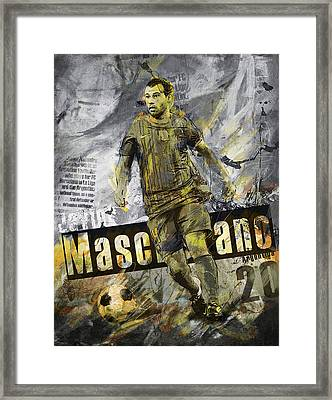 Javier Mascherano - C Framed Print by Corporate Art Task Force