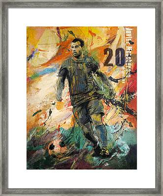 Javier Mascherano Framed Print by Corporate Art Task Force