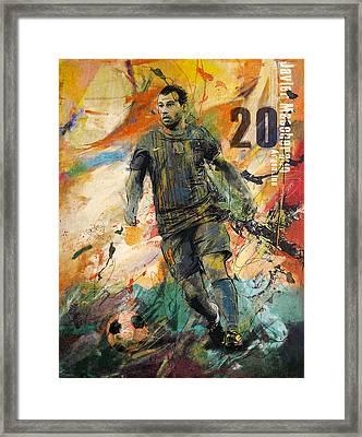 Javier Mascherano Framed Print by Corporate Art Task Force