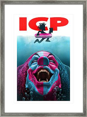 Jaws Of Carnage Framed Print by Tom Wood