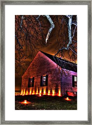 Jaws Of Death Or Haven Of Rest - The Dunker Church-a1 - Antietam Memorial Illumination Framed Print by Michael Mazaika