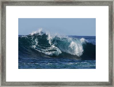 Jaws Of The Sea Framed Print