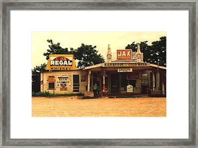 Jax Juke Joint Melrose Louisiana Framed Print by Marion Wolcott