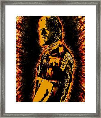 Jax Framed Print by Michael Lee