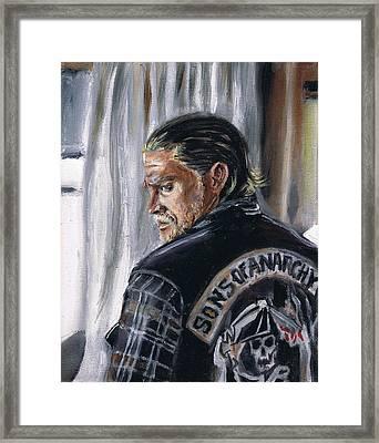 Jax Teller Framed Print by Demian Legg