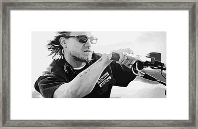 Jax Teller Final Ride Vector By Gbs Framed Print by Anibal Diaz