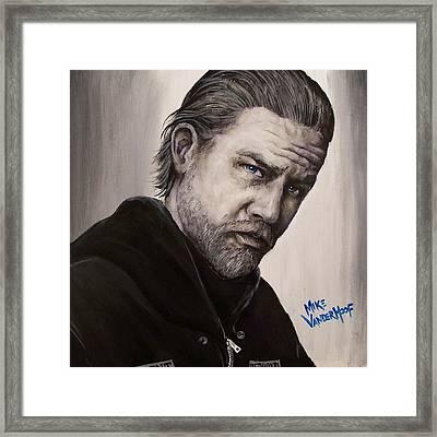 Jax Teller Framed Print by Michael Vanderhoof