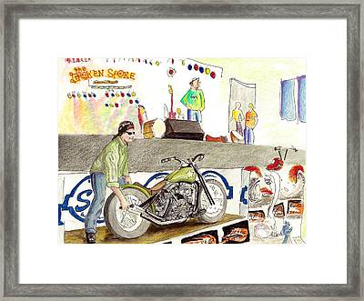Jay Allen At The Broken Spoke Saloon Framed Print by Albert Puskaric