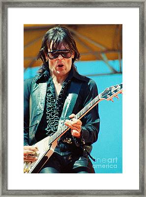 Jay Geils Of The J Geils Band- Day On The Green July 4th 1979 Framed Print by Daniel Larsen
