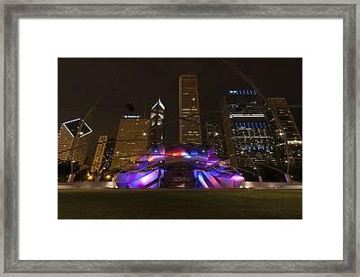 Jay Pritzker Pavilion Chicago Framed Print by Adam Romanowicz