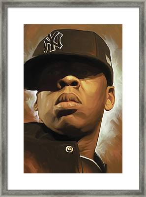 Jay-z Artwork Framed Print by Sheraz A