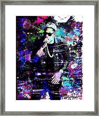 Jay Z Original Painting Art Print Framed Print by Ryan Rock Artist