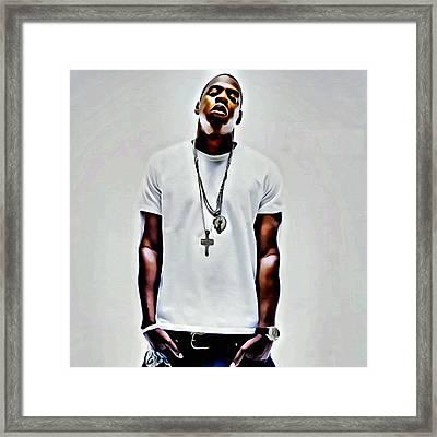 Jay-z Portrait Framed Print
