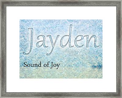 Jayden - Sound Of Joy Framed Print by Christopher Gaston