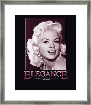 Jayne Mansfield Elegance Framed Print