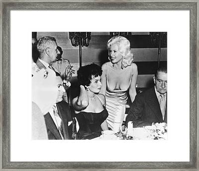Jayne Mansfield, Sophia Loren Framed Print by Underwood Archives
