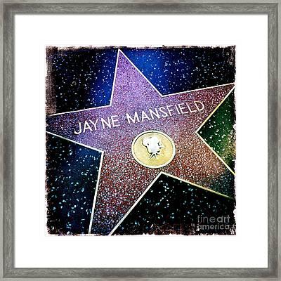 Jayne Mansfield Star Framed Print by Nina Prommer