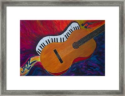 Jazz Alive Framed Print by Phoenix The Moody Artist