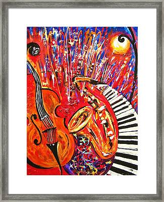 Jazz And The City 2 Framed Print