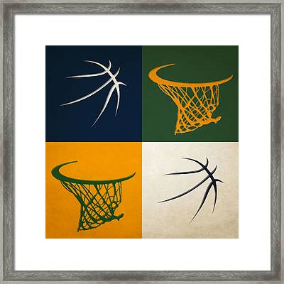 Jazz Ball And Hoops Framed Print by Joe Hamilton