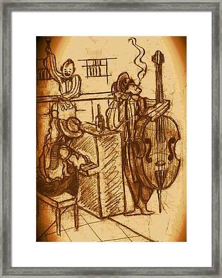 Jazz Bar 1940's Framed Print by Jazzboy