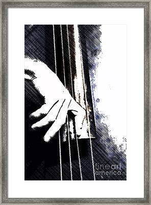 Jazz Bass Poster Framed Print