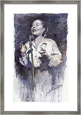 Jazz Billie Holiday Lady Sings The Blues Framed Print