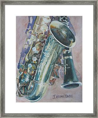 Jazz Buddies Framed Print by Jenny Armitage