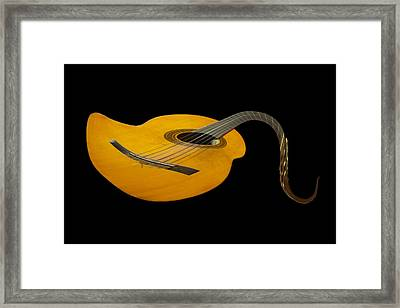 Jazz Guitar 2 Framed Print by Debra and Dave Vanderlaan
