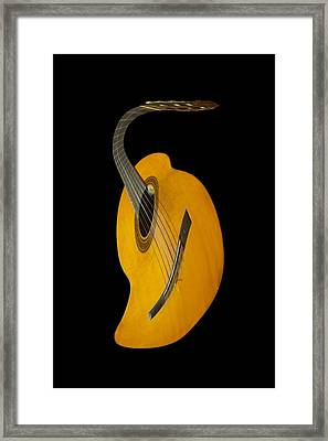 Jazz Guitar Framed Print by Debra and Dave Vanderlaan
