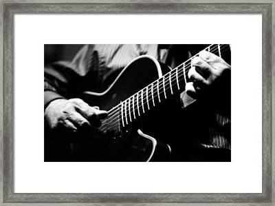 Jazz Guitar Framed Print