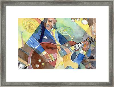 Jazz Guitarist Framed Print by David Ralph