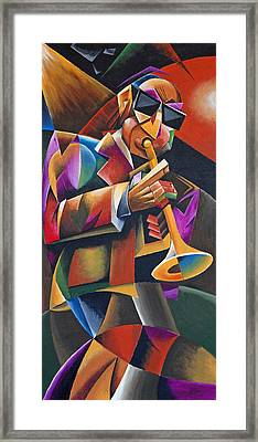 Jazz Horn Framed Print by Bob Gregory