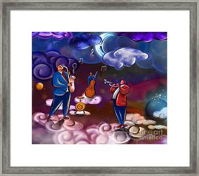 Jazz In Heaven Framed Print by Bedros Awak