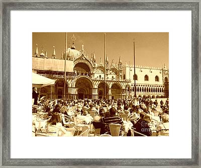Jazz In Piazza San Marco Framed Print by Ramona Matei