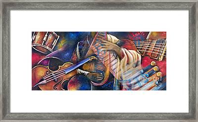 Jazz In Space Framed Print by Ka-Son Reeves