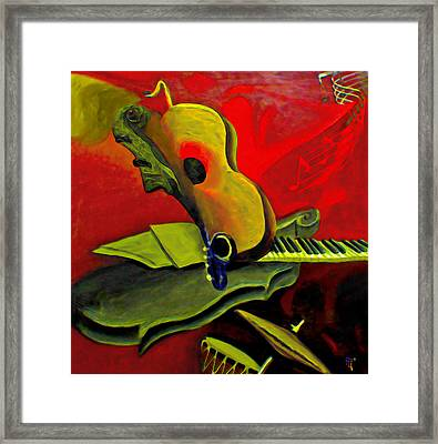 Jazz Infusion Framed Print
