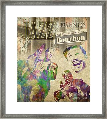 Jazz Legends Framed Print