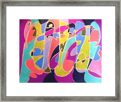 Jazz Live Framed Print by Esther Newman-Cohen
