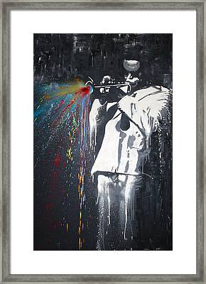 Jazz Man Framed Print by Aaron Stansberry