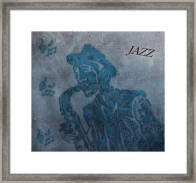 Jazz Man Framed Print by Dan Sproul