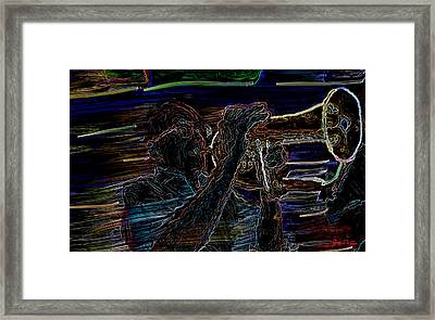 Jazz Man Jack Framed Print