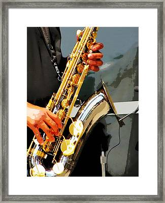 Jazz Man Framed Print